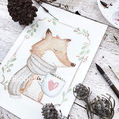 Chill...Friday is almost there. Keep calm and drink coffee.  #drawing#draw#art_we_inspire#arts_help#worldofartists#handpainted#watercolor#winsornewton#watercolour#illustration#watercolorillustration#whiteaddict#whitecultural#bigbearandbird#cute#happy#instagram#artoftheday#diy#artoftheday#craftsposure#fox#coffee#coffeeaddict