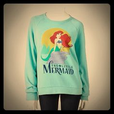 Disney Ariel Little Mermaid Sweater Sweatshirt NEW$35