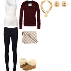 Untitled #307 by jenna45 on Polyvore featuring Abercrombie & Fitch, American Vintage, Vince, UGG Australia and Chanel