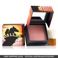 Benefit Cosmetics Dallas Dusty-Rose Blush & Bronzer gives your complexion a natural-looking glow that will leave you looking younger, healthier and more vibrant. Benefit Cosmetics, Benefit Makeup, Makeup Cosmetics, Maybelline, Benefit Blush, Natural Bristle Brush, Looks Dark, Coconut Health Benefits, Max Factor
