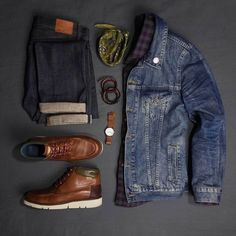 Styling inspiration on how to wear a denim jacket 8 different ways. I'll show you just how versatile this fall staple can be. Denim Jacket Men, Denim Jackets, Fashion Essentials, Mens Wardrobe Essentials, Men Style Tips, Streetwear, Fitness Fashion, Jeans, Autumn Fashion