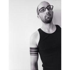Black #bass #string #armbands for Bill. #benvolt #blackwork #bands #tattoo…