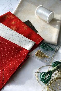 """всякие всякости...: Новогодняя гирлянда в технике """"paper piecing"""". Флажок второй"""