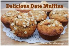 A Simple and easy date muffins recipe that the entire family are going to love. You need recipes like this in your life for those easy after school snacks, which you can whip up in just a few minutes. Use the special ingredients to make them healthy too! Healthy Kids Party Food, Date Muffins, Nutella Snacks, Easy Date, Date Recipes, After School Snacks, Good Dates, Quick Snacks, Afternoon Snacks