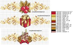 Christmas Borders • these are beautiful. Have no idea when or how I will use them but I just to pin them.