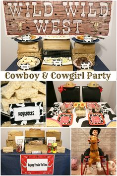 These Cowboy and Cowgirl Party ideas include food, desserts, games for kids, favors and more!