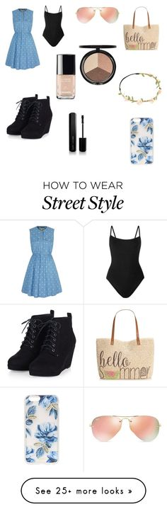 """60's look"" by ceirabear on Polyvore featuring Yumi, Style & Co., Ray-Ban, Sonix, Eres, Marc Jacobs, Chanel, Iman, women's clothing and women"