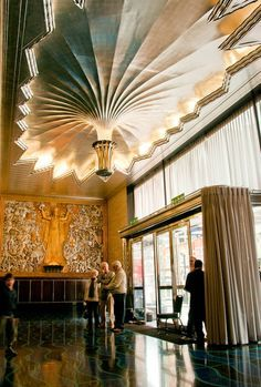 Among the most beautiful Deco interiors in the world, the lobby is only open to the public on special occasions. artdecodesire: The Daily Express Building, London, England.