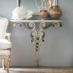 Vintage Wall Console Table