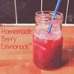 Homemade Berry Lemonade Recipe Because baking with small children is stressful and who doesn't love lemonade?