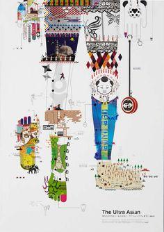 he Yoshida Hideo Memorial Foundation: The Ultra Asian, Dentsu, Tokyo, Japan Creative Jobs, Beautiful Posters, Commercial Art, Animal Design, Design Art, Graphic Design, Art Director, Art Education, Graphic Illustration