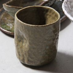 Cambodian Ceramic Cups - Green, Dented or White Lost Art, Ceramic Cups, Restoration, Ceramics, Mugs, Tableware, Shop, Ceramica, Pottery Mugs