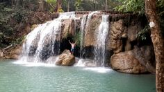 Erawan waterfalls. Thailand Waterfalls, South Africa, Thailand, Adventure, Country, Places, Pictures, Outdoor, Photos
