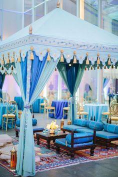 41 Wonderful Arabian Wedding Settings You Will Love - Page 12 of 40 Moroccan Party, Moroccan Theme, Moroccan Wedding, Mehndi Decor, Tent Decorations, Wedding Stage Decorations, Star Wedding, Wedding Menu, Budget Wedding