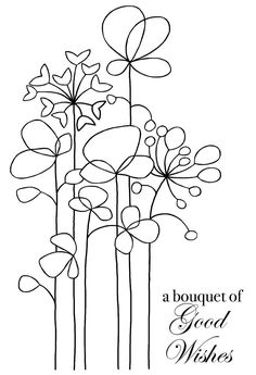 Woodware Long Tall Flowers Clear Magic Singles Stamp for sale online Flowers For Sale, Tall Flowers, Doodle Drawings, Doodle Art, Hand Embroidery Designs, Embroidery Patterns, Flower Doodles, Doodle Flowers, Watercolor Cards
