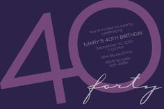 The most popular birthday party invitation for adult milestone birthdays . . . 30th, 40th, 50th, 60th, etc. . . .