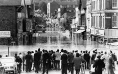 The main street in Guildford in Surrey in September 1968, after a deluge of rain caused the River Wey to overflow its banks. Picture: Getty Images