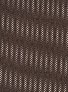 White, Brown Polka Dot Cotton Fabric, Quilting, 1 Yard, more yardage available