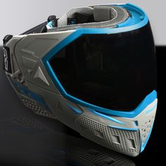 These HUD paintball goggles show you live battle information like ammo count, field maps and teammate locations Paintball Mask, Airsoft Mask, Airsoft Gear, Tactical Gear, Head Up Display, Body Armor, Headgear, Gears, Count