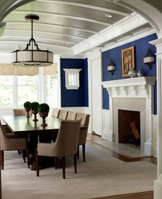 New Canaan Shingle Style - traditional - dining room - new york - by Michael Smith Architects