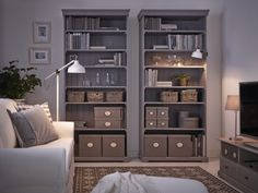 Our multi-tasking bookcases make great homes for everything you like having…