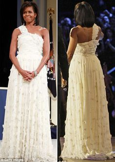 The First Lady's Choice: Michelle Obama Wears Isabel Toledo, Jason Wu and Tracy Feith Jason Wu, Mob Dresses, Bridal Dresses, Barak And Michelle Obama, Isabel Toledo, American First Ladies, American Women, Greek Dress, Presidente Obama