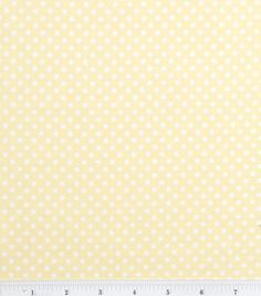 Nursery Baby Basic- Dots White on Yellow: nursery fabric: fabric: Shop | Joann.com
