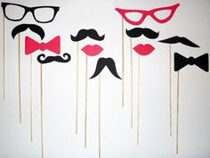 24 Photo Booth Props Mustache on a Stick   Wedding by Acherryortwo, $22.99 http://www.etsy.com/shop/acherryortwo