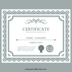 award certificate template victorian floral frame border 4th