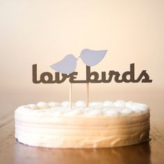 Simply Adorable Handmade Love Birds Cake Topper - too bad I already have ours!