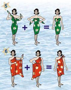Maneiras de usar um sarongue.