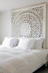 the intricate design draws you in, but the white keeps it very soothing - LOVE IT