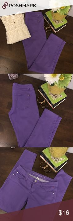 Celebrity Pink Skinny Jeans sz 11 Gorgeous purple Celebrity pink skinny jeans! No defects! 5 pocket. Stretch fit, size 11 juniors. Smoke free home. Pair these today!! Celebrity Pink Jeans Skinny