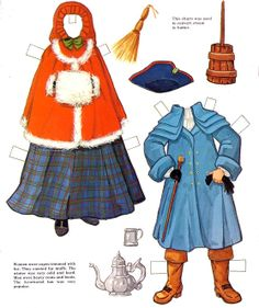Colonial Americafree paper dolls The International Paper Doll ...