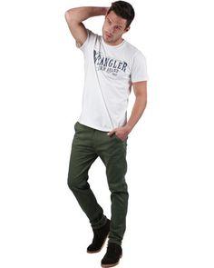 Wrangler Stretch Slim Chino Pants Green Slim Chinos, Tshirts Online, Men Fashion, Printed Shirts, Menswear, Green, T Shirt, Pants, Stuff To Buy
