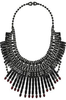TOM BINNS  Dumont Swarovski crystal bib necklace