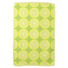 Summer Lemons Citrus Retro Kitchen Towel Gift