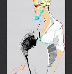 15 Ideas for fashion ilustration face design etsy Sketchbook Pages, Fashion Sketchbook, Fashion Sketches, Fashion Drawings, Vogue Fashion, Fashion Art, Trendy Fashion, Style Fashion, Fashion Spring