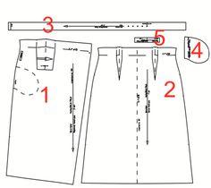 Детали кроя юбки-миди