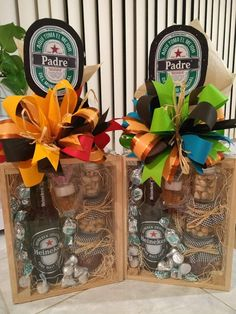 Fathers Day Gift Basket, Fathers Day Gifts, Mother And Father, Gift Baskets, Ideas Para, Diy Gifts, Alcohol, Crafting, Sweets