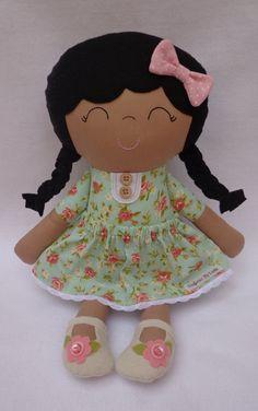 Maria Flor  ethnic brown doll handmade doll by dollsfofurasbyleila