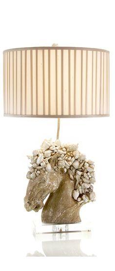 Luxury Wedding Gift Ideas, Designer Horse Shell Lamp, So Beautiful, One Of  Over