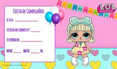 Alfabeto LOL SURPRISE Letras para descargar gratis | Todo Peques Lol Dolls, Spa Party, Party Time, Coloring Pages, Crafts For Kids, Banner, Family Guy, Birthday Parties, Birthday Ideas