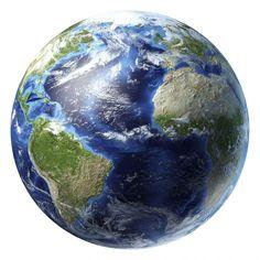 De aarde als klein stipje in het heelal.