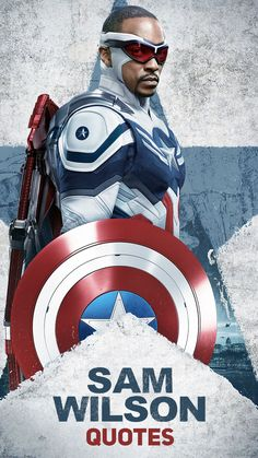 Quotes by Sam Wilson (the new Captain America), character from the TV series The Falcon and the Winter Soldier (Disney+ & Marvel Studios). Promotional poster is from season 1 (the only season). Sam Wilson is played by Anthony Mackie.   The Falcon and the Winter Soldier Quotes   Sam Wilson Quotes Captain Marvel, Marvel Avengers, Captain America, Marvel Comic Character, Marvel Movies, Aquaman, Batman, Superman, Series Da Marvel