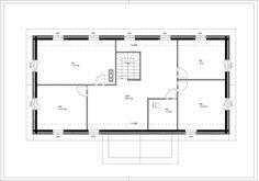 Pohjalaistalo 7 116m2 + 91m2 | Rakennus Luoma Oy Floor Plans, Diagram, Floor Plan Drawing, House Floor Plans