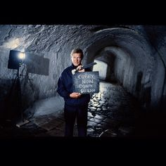 Roger Moore in the tunnels of the Old Fort in Corfu in FOR YOUR EYES ONLY (1981). Moore and Producer Cubby Broccoli played backgammon for high stakes throughout the shoot, but somehow always managed to come out even by the last day.