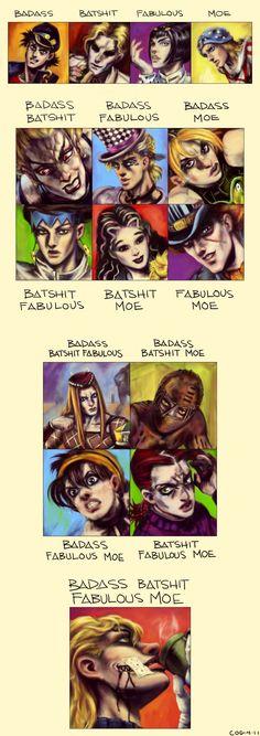 JJBA: BadassBatshitFabulousMoe by cogdis.deviantart.com on @deviantART