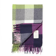 Take advantage of our great prices and buy Avoca Lambswool Pioneer Throw (142 x 183cm) - Purple/Green/Blue today at IWOOT. Get great gifts, with free delivery available.
