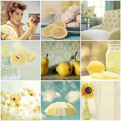 Pale yellow and a touch of blue
